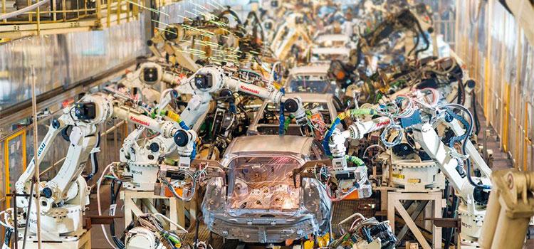 Imagen de la fábrica Toyota