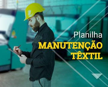 planilha de manutenção têxtil